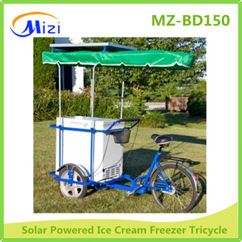 Mobile Ice Cream Bicycle With Battery Powered Freezer 12v