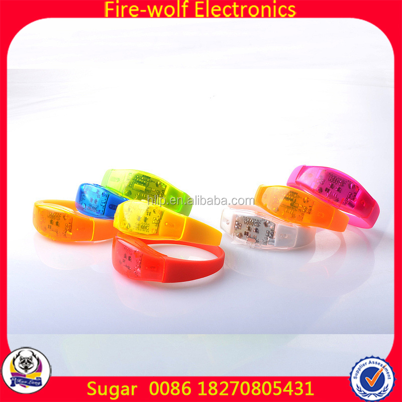 LED Lights Halloween Handband Party Decoration Kids Birthday Party Decorations LED Flashing Bracelet With Motion Activated