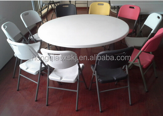 6ft Plastic Folding Round Table, Banquet Folding Table, Big Round Plastic  Dining Table,