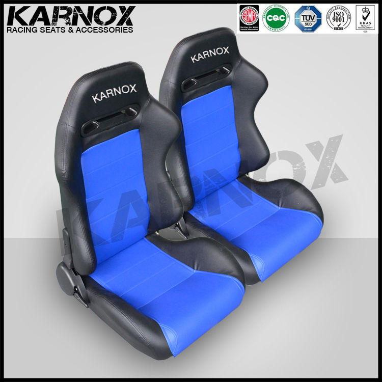 Karnox Black And Blue Adult Car Booster Seat