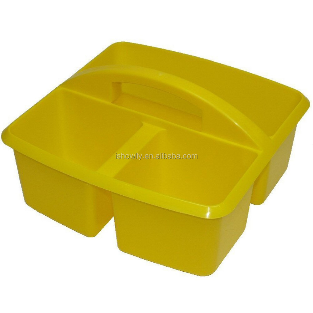 High Quality Hot Sale Plastic Table Storage Caddy With Handle Desk ...