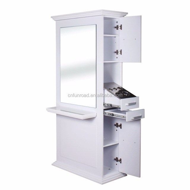 beauty salon furniture mirror station double sides styling hair styling barber stations