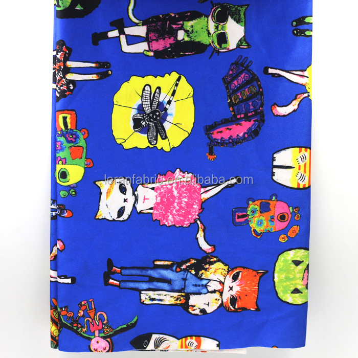 95% poly 5% spandex elasticity Scuba digital printed fabric
