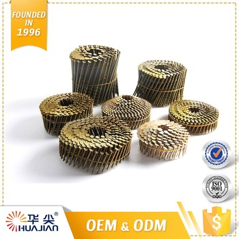 Bargain Wooden Screw Shank Clavos Helicoidales Pallet Coil Roofing Nails For Sale