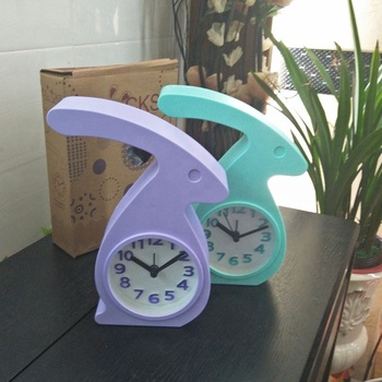 Hot Selling Creative Cute Rabbit Shaped Table Alarm Desk Clock