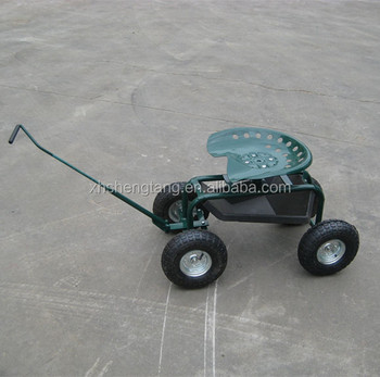 Rolling Garden Work Scooter Seat Yard Cart Tool Tray Wheels Gardening  Painting With Handle   Buy Garden Work Seat Cart,Scooter Seat Yard ...