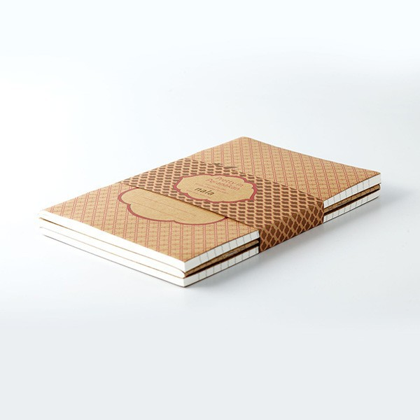 Customizable personalised a4 size notebook