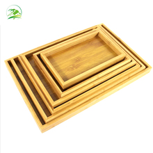 High Quality Rectangle Bamboo Food Serving Tray With Handles