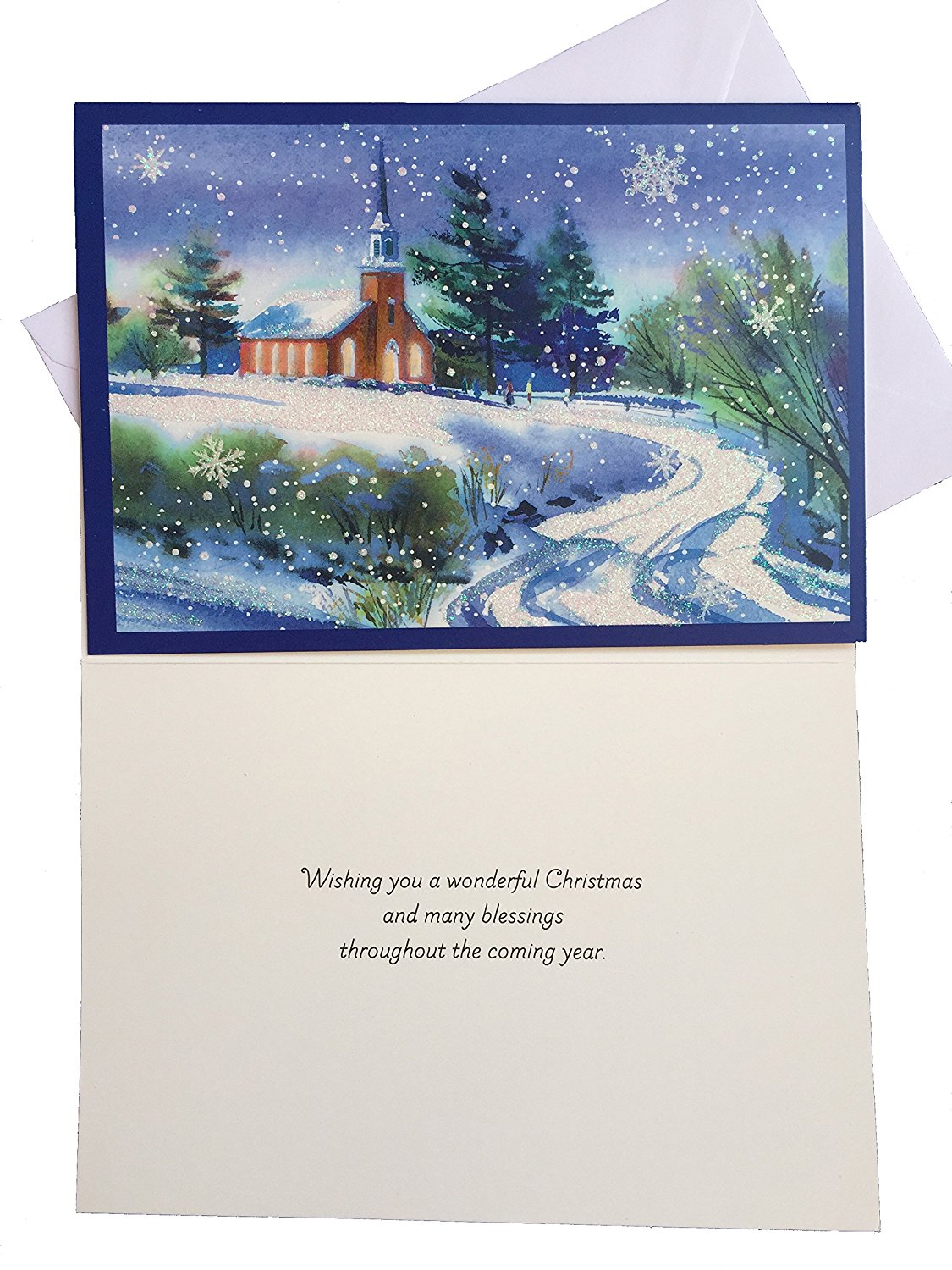 Cheap cards hallmark find cards hallmark deals on line at alibaba get quotations christmas blessings greeting cards hallmark boxed cards set with church in snow scene 16 cards bookmarktalkfo Gallery