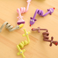 New 10pcs lot Kawaii Cartoon Earphone Headphone Cable Winder Silicone Cord Holder For Iphone samsung Organizer