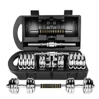Adjustable weight price 20kg 40kg 50kg York chrome dumbbell set