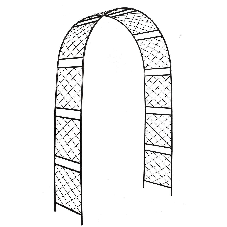 1.Go Steel Garden Arch, 7'10 High x 4'7 Wide, Garden Arbor for Various Climbing Plant, Outdoor Garden Lawn Backyard