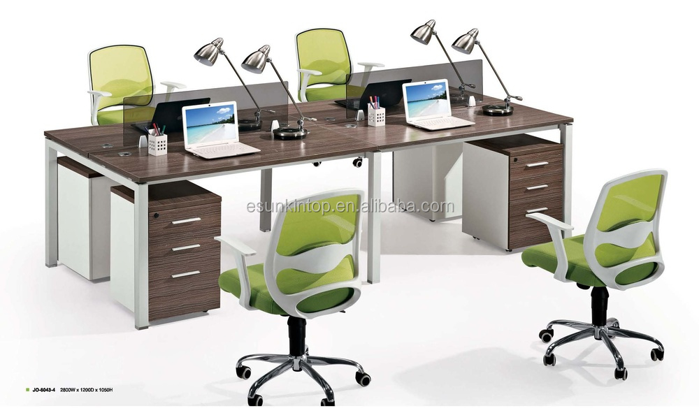 foshan furniture office partition table workstation 4 person desk