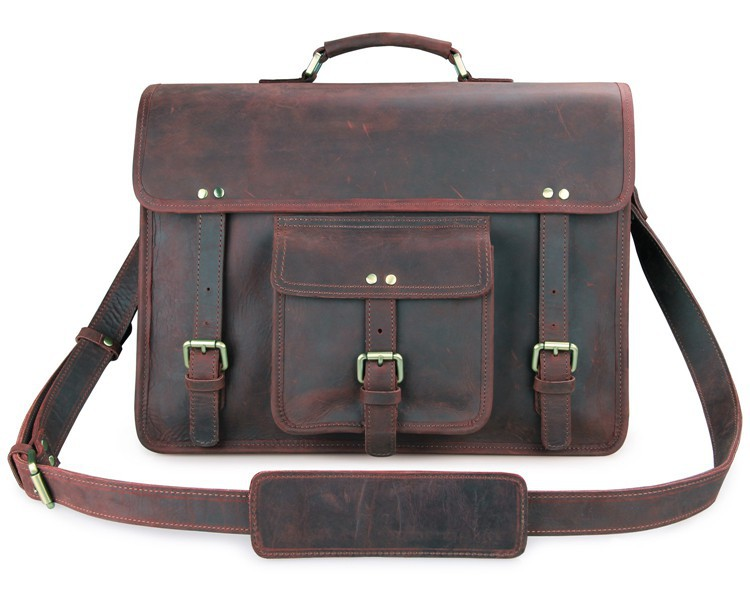 7234r New Arrival Vintage Leather Men's Dark Brown Messenger Bag ...
