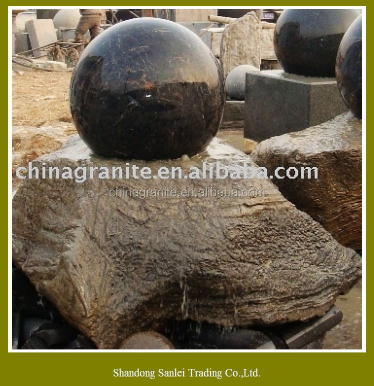 Hot sale natural granite rotating ball electric water fountain prices