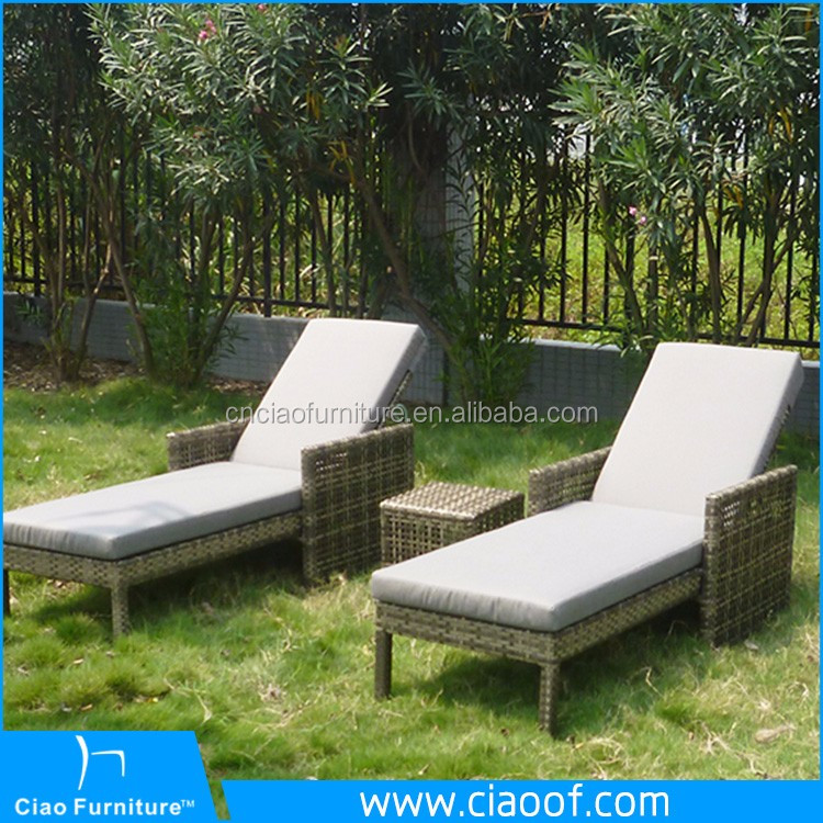 Outdoor Swimming Pool Plastic Chair Wicker Poly Ratan Sun Lounge