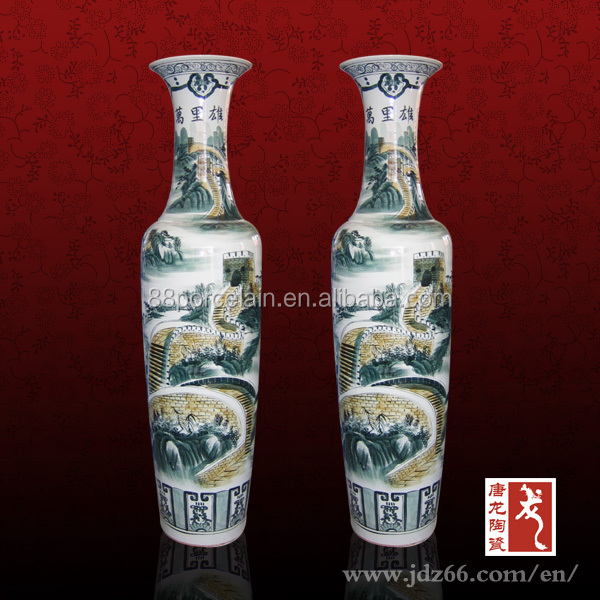 Chinese vase made in china ceramic tall vase