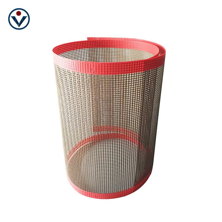 カスタムサイズ中国製造 ptfe コーティングされたファイバーグラスメッシュ高密度 ptfe グラスファイバーメッシュコンベア
