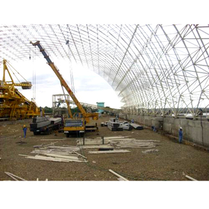 coal dry shed large span steel structure aircraft hangar