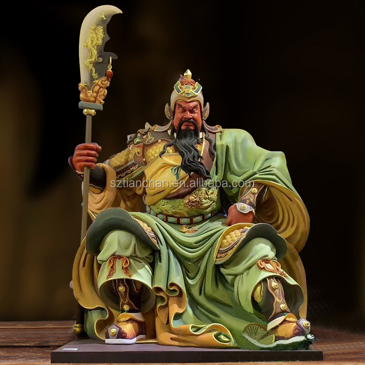 Professional customized metal decoration guan gong buddha statues large and bronze casting statue guan yu