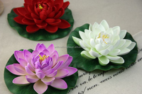 China wholesale high-simulation artificial floating lotus flower
