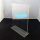 T shape Acrylic table stand menu holder sign holder picture frame