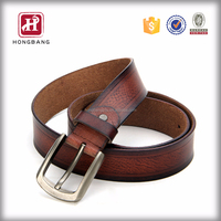 Fashionable cowhide leather mens belt China export product