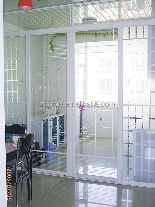 Kaca Interior Pintu Dapur Aluminium Geser