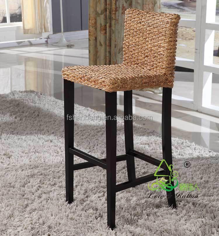 new modern seagrass high bar stool outdoor steel bar stool furniture buy seagrass high bar. Black Bedroom Furniture Sets. Home Design Ideas