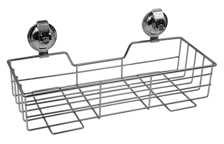 Buy ESYLIFE No Rust Bathroom Caddy Basket Vacuum Suction Cup Shower ...