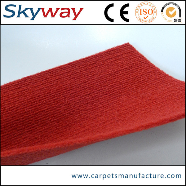 PET polyester nonwoven exhibition rib velour carpet used office carpets
