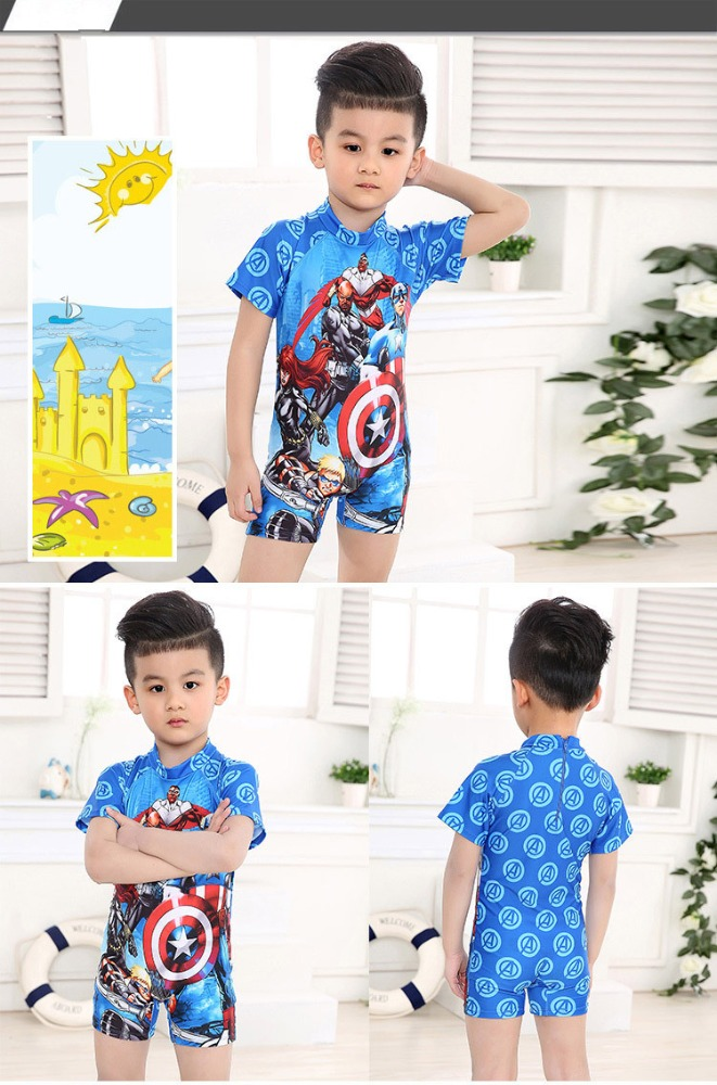 best quality cool superman 2017 summer hot fashion custom baby boys swimwear one piece