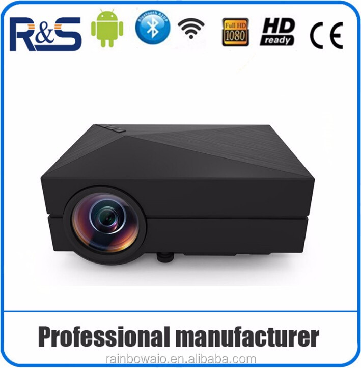 2016 Hot selling GM60 HD Portable Mini LED Home Projector support wifi connect , with multi-function use projector china mobile
