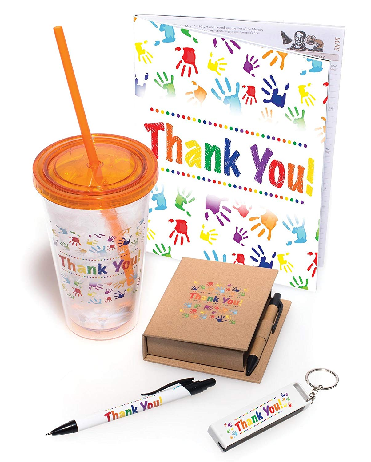 Get Quotations · Employee Appreciation Thank You Handprints 5 Piece Gift Set