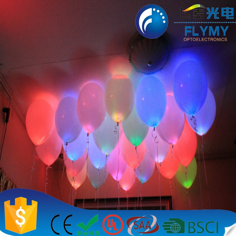 Wholesale led RGB balloon lights party balloon for christmas & wedding decoration