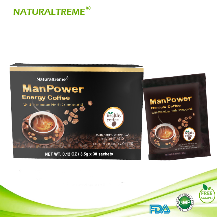 Hot Sale Instant Ginseng Male Coffee Thailand 3.5g/sachet