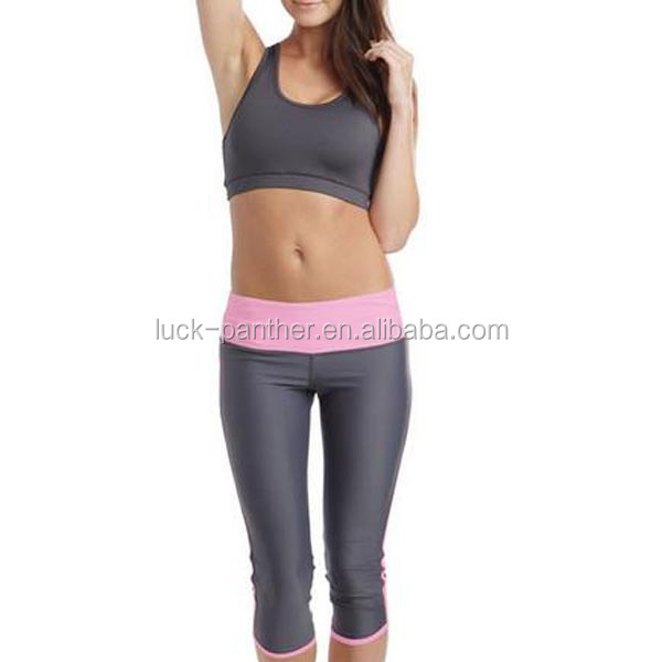 Custom Supplex Fitness Wear Women/girls Yoga Capris,Plain Yoga ...