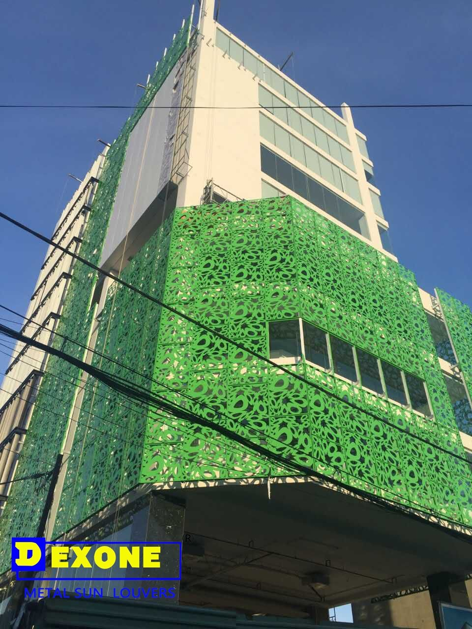 Exterior building wall cladding panel/metal decorative perforated ...