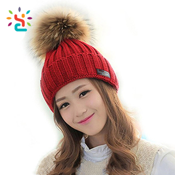 Wholesale red beanies cap custom wool knitted cap winter hats Personalized  women free knitted beanie hat 8c1a955a4c9
