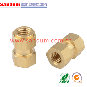 Injection mould brass threaded insert nut