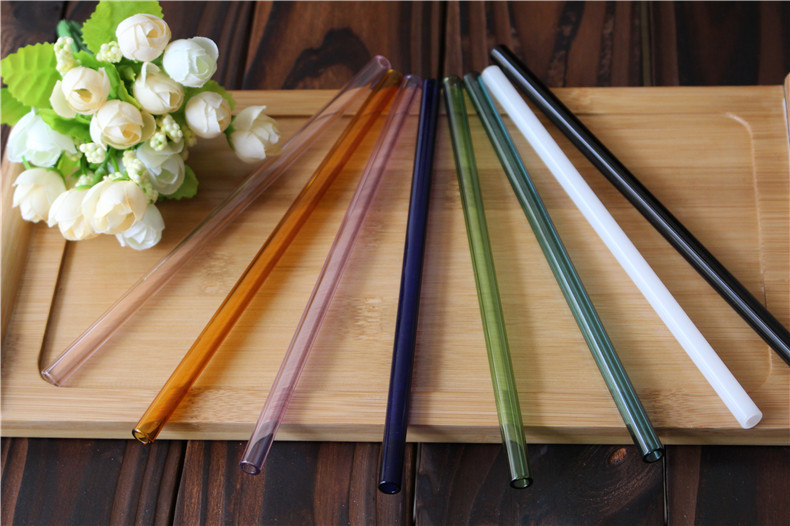 Factory Direct Sale High Quality Handmade Borosilicate Pyrex Glass Drinking Straws