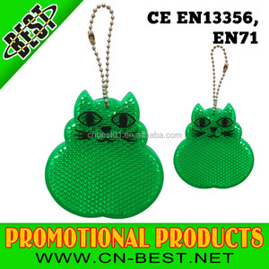 2015 news fashion EN 13356 cat shape hard reflector/reflex reflector