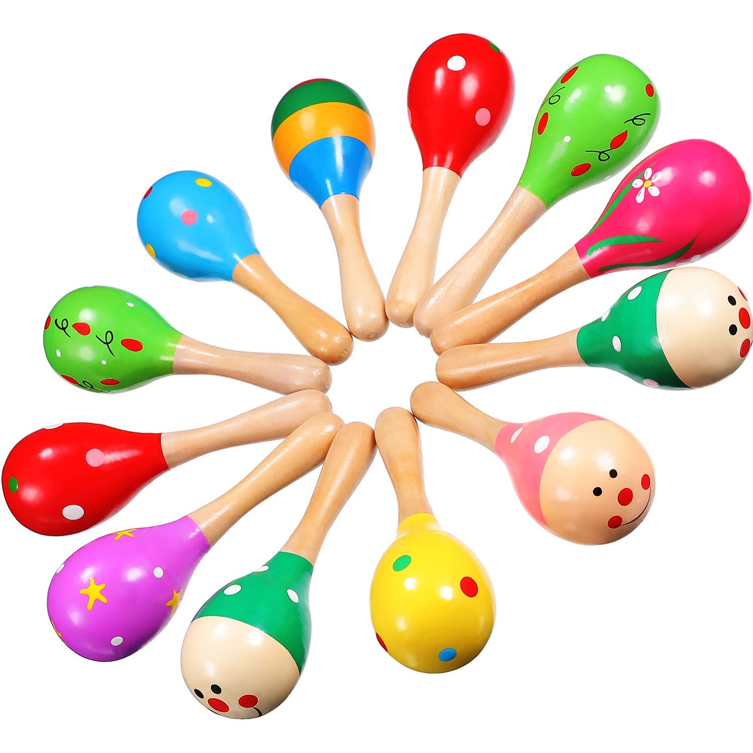 Musical Instruments Hot Sale Wooden Large Maracas Rumba Shakers Rattles Sand Hammer Percussion Instrument Musical Toy For Kid Children Party Games Parts & Accessories