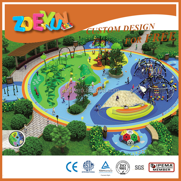 The overall planning series children outdoor playground equipment
