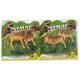 2 Style Children Mini Plastic Toy Animal Toy Camel and Deer