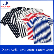 Fashion T Shirt Wholesale Striped T-Shirt For Men Tshirt T-Shirts Made In China