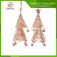 Copper metal ornament display tree
