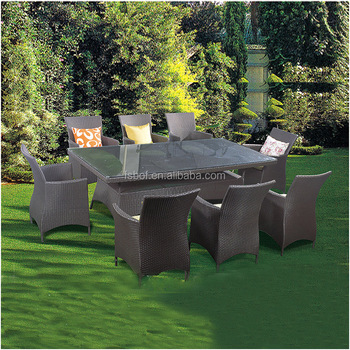 Garden Furniture Rattan Table And Chair, Rattan Table Bases For Glass Tops,  Wicker Chair