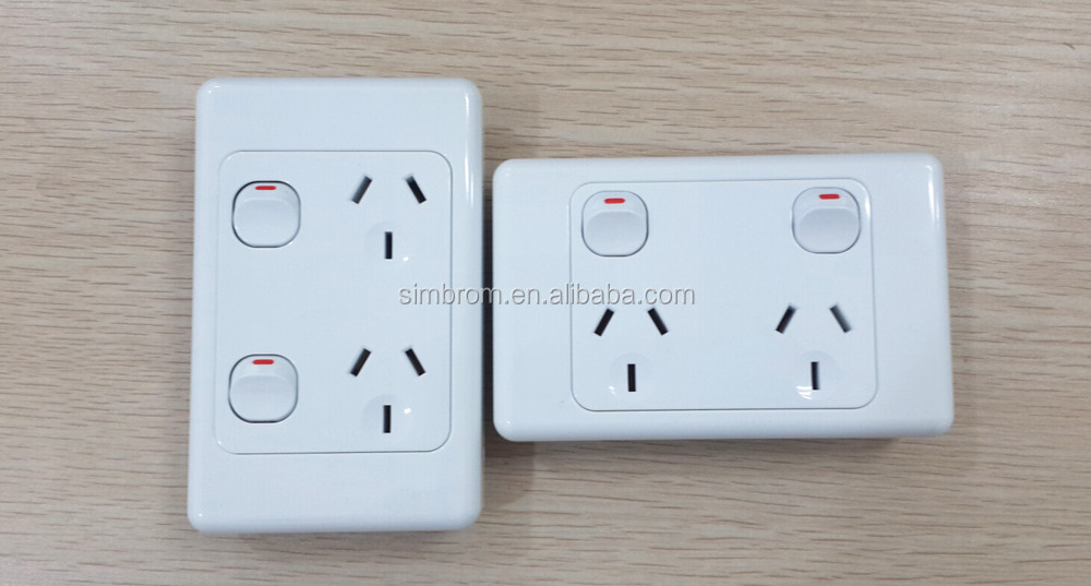 Australia Single 1 Gang Computer Data Socket Rj45 Electric Switch ...