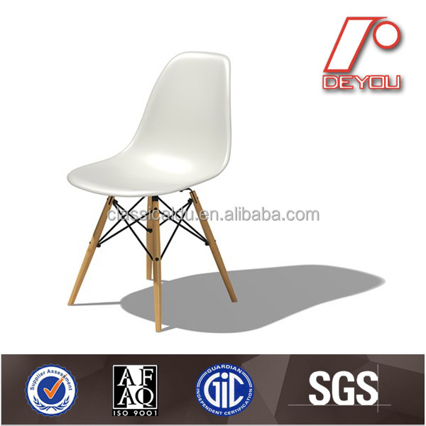 H-0923 Eiffel plastic replica emes dining chair with beech wood leg